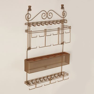 Product Image For Over The Door Jewelry Organizer In Bronze 3 Out Of