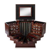 Lori Greiner® Deluxe Wood Jewelry Organizer in Walnut