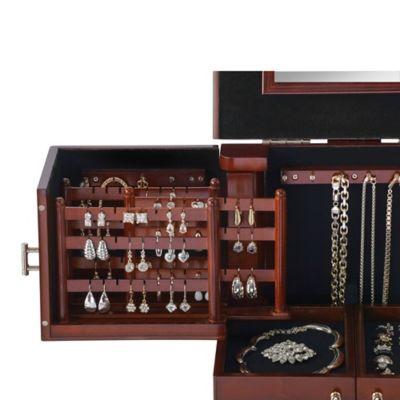 Lori Greiner Deluxe Wood Jewelry Organizer in Walnut Bed Bath