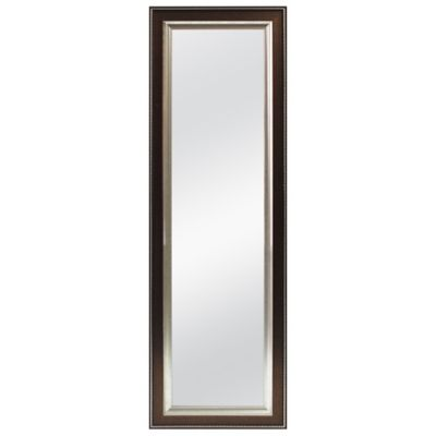 Better 53.5 Inch X 17.5 Inch Over The Door Mirror In Bronze