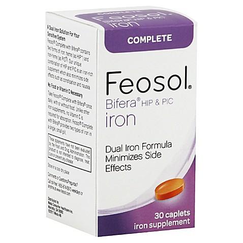 Feosol Complete 30 Count Bifera Hip Amp Pic Iron Supplement
