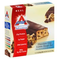 Atkins Advantage 5-Pack Chocolate Chip Cookie Dough Meal Bar