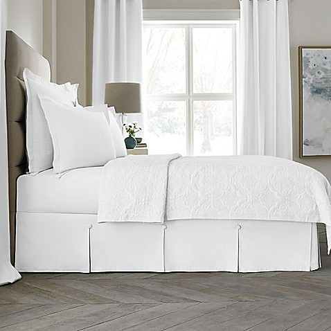 king bed skirt buy wamsutta collection 174 button pleated 15 inch california 980