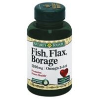 Nature's Bounty 60-Count Fish Flax & Borage 1200 mg Softgels