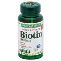 Nature's Bounty 60-Count Biotin 5000 mcg Softgels