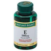 Nature's Bounty 120-Count Vitamin E 400 IU Pure dl- Alpha Softgels