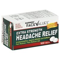 Harmon® Face Values™ Ex Strength 100-Count Headache