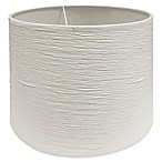 Mix & Match Small 10-Inch Crinkle Paper Drum Lamp Shade in Soft White