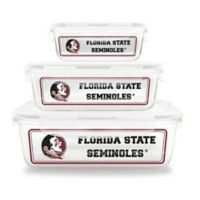 Florida State University 6-Piece Glass Food Container Set