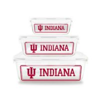 Indiana University 6-Piece Glass Food Container Set