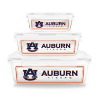 Auburn University 6-Piece Glass Food Container Set