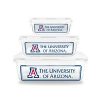 University of Arizona 6-Piece Glass Food Container Set