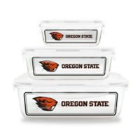 Oregon State University 6-Piece Glass Food Container Set