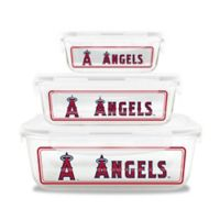 MLB Los Angeles Angels 6-Piece Glass Food Container Set