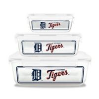 MLB Detroit Lions 6-Piece Glass Food Container Set