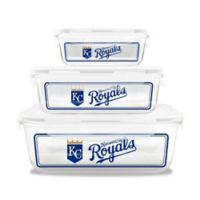 MLB Kansas City Royals 6-Piece Glass Food Container Set
