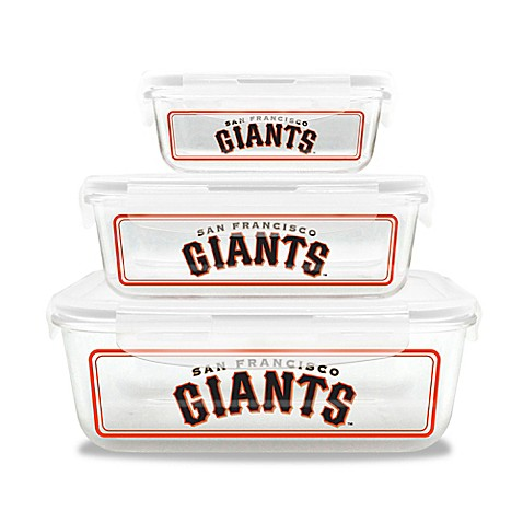Mlb San Francisco Giants 6 Piece Glass Food Container Set