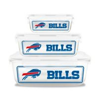 NFL Buffalo Bills 6-Piece Glass Food Container Set