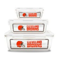 NFL Cleveland Browns 6-Piece Glass Food Container Set