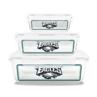 NFL Philadelphia Eagles 6-Piece Glass Food Container Set