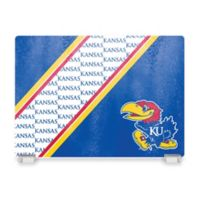 University of Kansas Tempered Glass Cutting Board