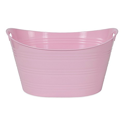 buy creative bath storage tub in light pink from bed bath beyond. Black Bedroom Furniture Sets. Home Design Ideas
