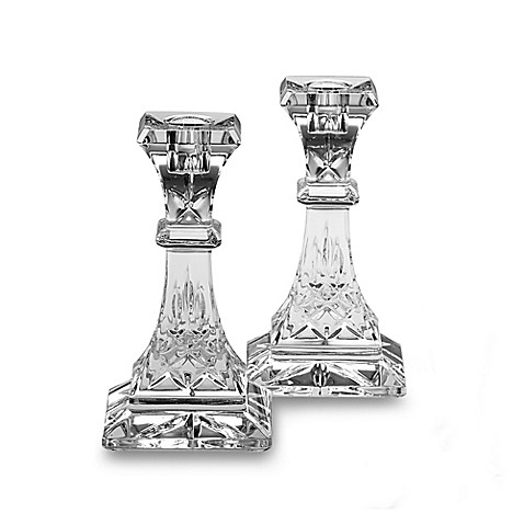 Waterford 174 Lismore Crystal Candlestick 6 Inch Pair Bed