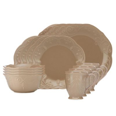 Lenox® French Perle™ 16-Piece Dinnerware Set in Latte  sc 1 st  Bed Bath \u0026 Beyond : lennox dinnerware - pezcame.com