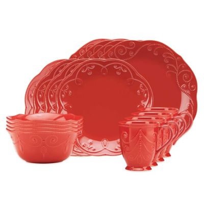 Lenox® French Perle 16-Piece Dinnerware Set in Cherry  sc 1 st  Bed Bath \u0026 Beyond : cherry dinnerware - pezcame.com
