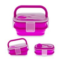 SmartPlanet Collapsible Double Decker Meal Kit in Pink