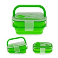 SmartPlanet Collapsible Double Decker Meal Kit in Green