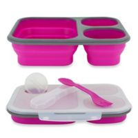 SmartPlanet Large Collapsible Eco Lunch Kit in Pink
