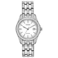 Citizen Eco-Drive Ladies' 28.5mm Silhouette Crystal Watch in Stainless Steel