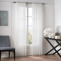 Valeron Natural Sheer 84-Inch Window Curtain Panel in White