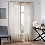 Valeron Natural Sheer 95-Inch Window Curtain Panel in Linen