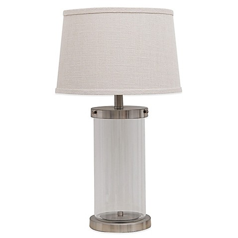 Fillable glass table lamp bed bath beyond fillable glass table lamp aloadofball Image collections