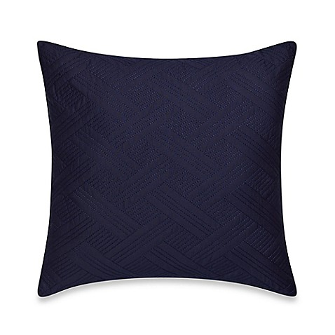 Buy Nautica Haverdale Quilted Square Throw Pillow in Navy from Bed Bath & Beyond