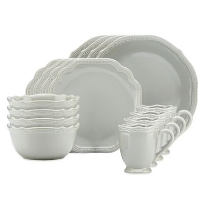 Lenox® French Perle Bead 16-Piece Dinnerware Set in Grey  sc 1 st  Bed Bath u0026 Beyond & Buy Lenox Everyday Dinnerware from Bed Bath u0026 Beyond