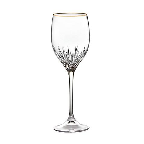 Buy vera wang wedgwood duchesse gold wine glass from bed bath beyond - Vera wang duchesse wine glasses ...