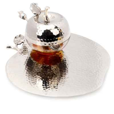 Classic Touch Rosh Hashanah Honey Dish with Spoon