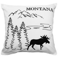 Passport Postcard Montana Square Throw Pillow