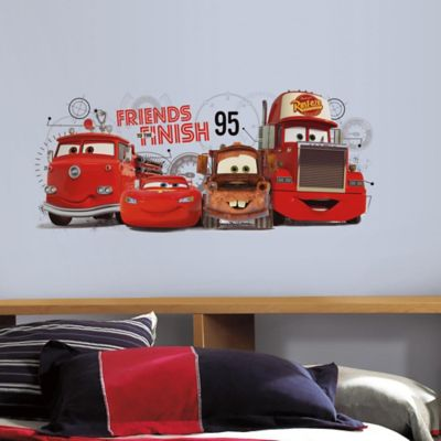 Wall Decor U003e RoomMates Disney Pixar Cars 2 Friends To The Finish Peel And  Stick Wall