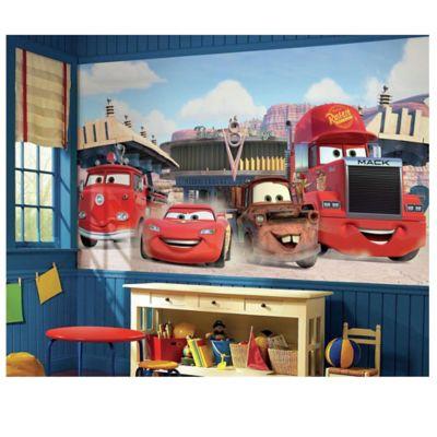 Disney® Cars Chair Rail Prepasted 10.5 Foot X 6 Foot Mural
