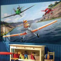Disney® Planes Chair Rail Prepasted 10.5-Foot x 6-Foot Mural