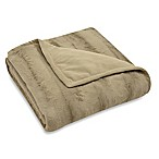 Mink Reversible Throw in Champagne
