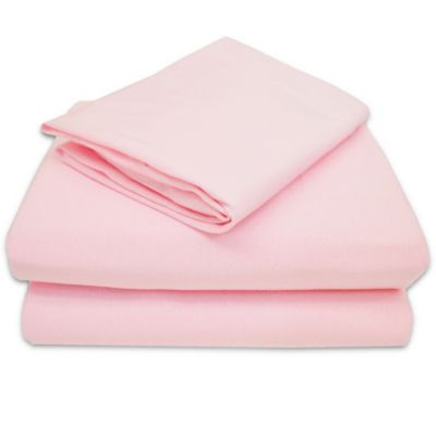 tl care 100 cotton jersey 3piece toddler sheet set in pink
