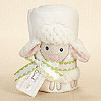 Baby Aspen Love Ewe Lamb Plush Velour Baby Blanket