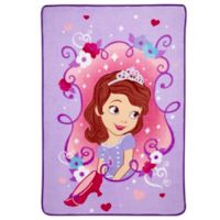Sofia The First Coral Fleece Blanket