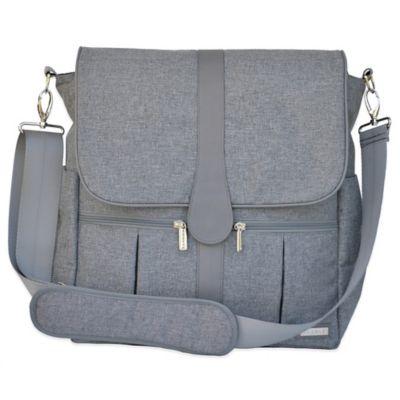 grey diaper bag from buy buy baby. Black Bedroom Furniture Sets. Home Design Ideas
