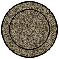 Concord Global Leopard Beige 5-Foot 3-Inch Round Rug